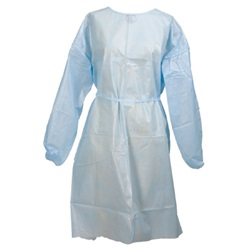 Isolation and Fluid-Resistant Surgical Gowns blue