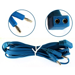 Blue 12 inch bipolar cable