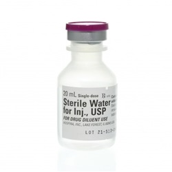 20 mL Vial Of Sterile Water - Injection