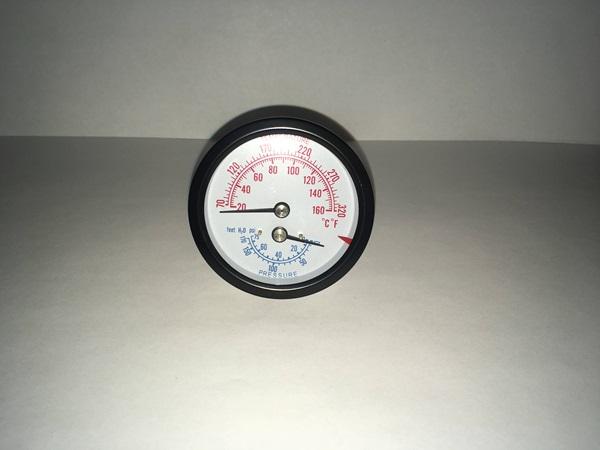 parts to your door temperature pressure guage