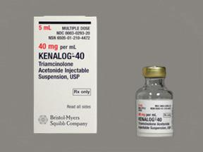 triamcinolone acetonide (kenalog) 40 mg/ml