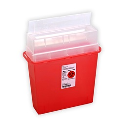 5 Quart Translucent Red Container - Non-Locking Horizontal Lid