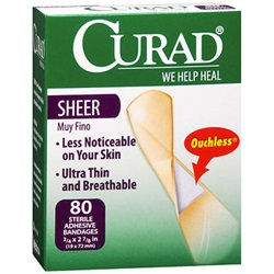 Curad semi-transparent sheer bandages