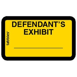 Legal Exhibit Labels