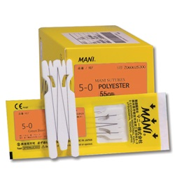 Mani Sutures 5-0 Polyester