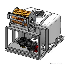 Illustration of 100 Gallon Skid