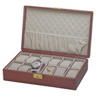 12 WATCH COLLECTION BOX (BRN/BGE)