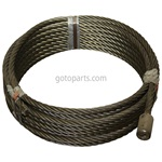 WIRE ROPE 5/8 X 71 W/BUTTON