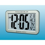 Traceable® Jumbo-Digit Compact Radio-Controlled Wall Clock (Control Co.)