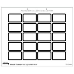 Exhibits-U-Create Blank Label Packs