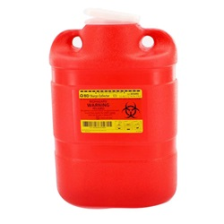 8.2 Quart Red Container - Non-Locking Funnel Lid