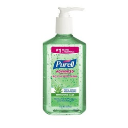 12 oz. Purell Aloe Hand Sanitizer - Gel Pump Bottle