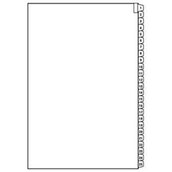 Numeric Index Divider Sheets