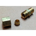 "Brass Compression Fitting 1/8"" MPT X 1/4"""