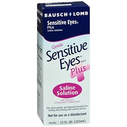 Sensitive Eyes Plus Saline Solution, 12 oz.