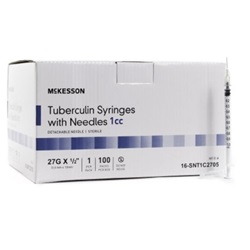 "27g, 0.5"" Needle - 1cc/1ml Syringe"