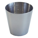 2 oz. Graduated Medicine Cup - Stainless Steel