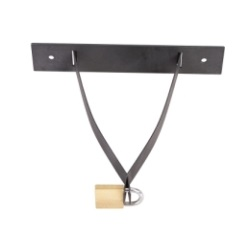 locking black metal sharps collector bracket