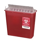 5 Quart Red Container - Non-Locking Horizontal Lid