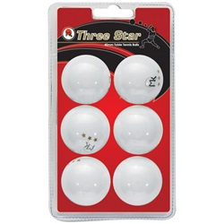 MK Three Star Ball - 6 Pack
