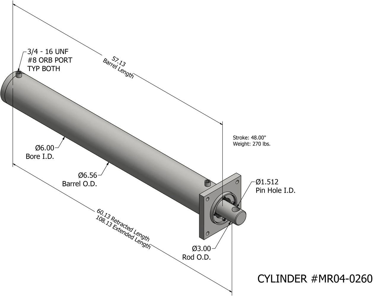 Marathon Vertical Baler Cylinder on
