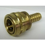 "1/2"" Brass Socket Connector x Hose Barb"
