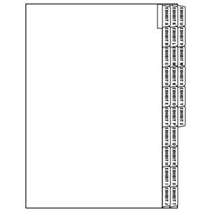 tabbies legal exhibit alpha index divider sheets side tab. Black Bedroom Furniture Sets. Home Design Ideas