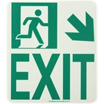 Lume-A-Lite NYC Compliant Running Man Exit Sign with Arrow
