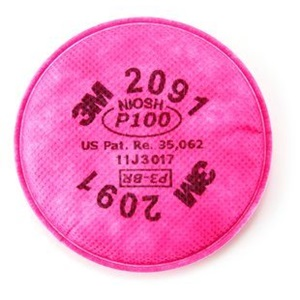 3M™ Particulate Filter 2091, P100