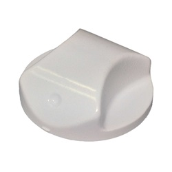 TOPSIDE PART: JACUZZI ROUND KNOB .25 SHAFT WHITE