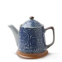 Blue Vintage Karakusa Tea Pot
