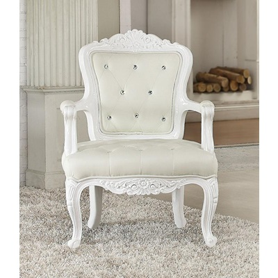 59130 WHITE ACCENT CHAIR