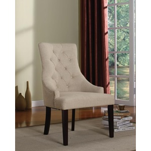 59194 CREAM FABRIC ACCENT CHAIR
