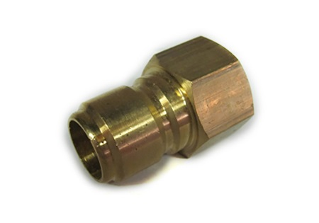 "Brass 3/4"" Male Pipe Plug x 3/4"" FPT - Quick Disconnect"