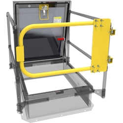 Yellow Powder Coat Safety Gate