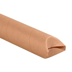"3 X 26"" KRAFT MAILING TUBE, CRIMPED END 24/CS  S3026K"