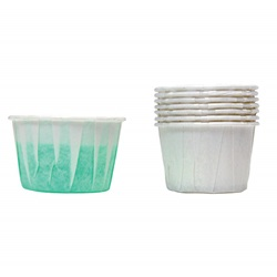 Disposable Mouthwash Cups 2oz Paper Pleated