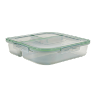"MyGo™ Large 3-Compartment Container, 9-3/8"" X 9-3/8"" X 2-½"""