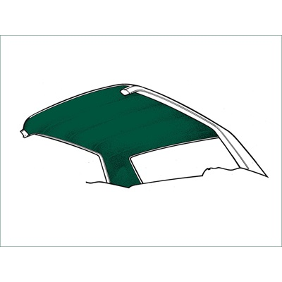 1971-73 Coupe Headliner Dark Green Tier Grain