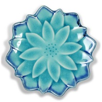 "Turquoise Blue Mum 4.75"" Plate"