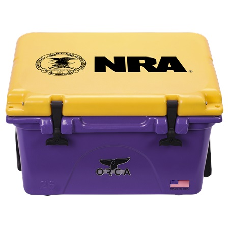 NRA Purple Gold 26qt ORCA Cooler