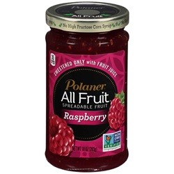 Polaner All Fruit Spread, Red Raspberry - 10oz