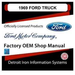 1969 Ford Truck & Van Factory Shop Manual, CD