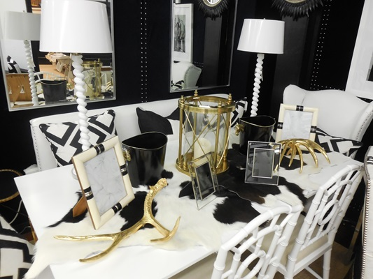 Black, White and Gold Tabletop Accessories - Shop this look!