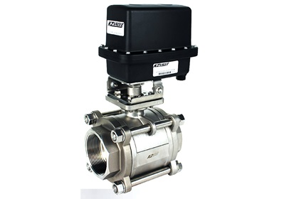 "KZ Valve 2 1/2""  2-Way Actuated Ball Valve 