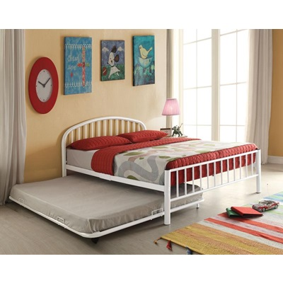 30460T-WH TWIN METAL BED