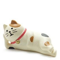 FIGURINE CALICO CAT