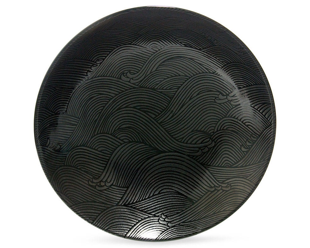 "Aranami Black 9.75"" Serving Bowl"