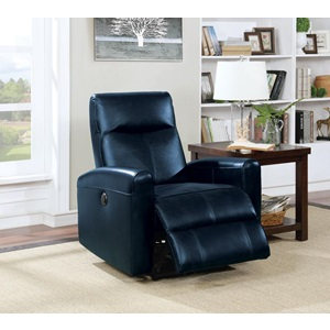 59690 NAVY BLUE POWER RECLINER