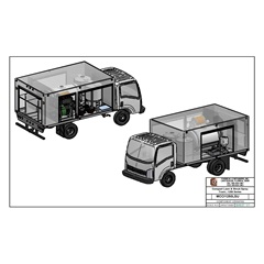 CAD drawing of Compact Lawn & Shrub Spray Truck | 1250 Series